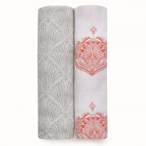 Classic 2 Pack Swaddles - Paisley Multi
