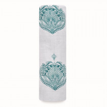 Classic Single Swaddle - Paisley Teal