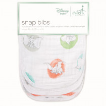Essentials 3-Pack Classic Snap Bibs Flying Dumbo