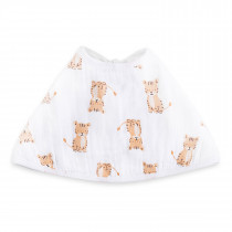 Essentials Single Burpy Bib - Safari Babes Tiger/ Zebra