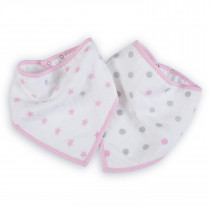 Essentials 2-Pack Bandana Bibs - Darling