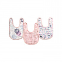 Essentials 3 Pack Classic Snap Bibs - Pretty Pink