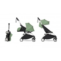 complete BABYZEN stroller YOYO2 0+ and 6+  White Frame & Peppermint