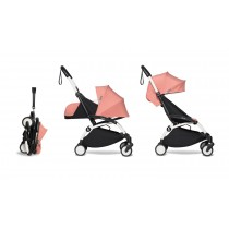 complete BABYZEN stroller YOYO2 0+ and 6+  White Frame & Ginger