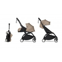 complete BABYZEN stroller YOYO2 0+ and 6+  Black Frame & Taupe