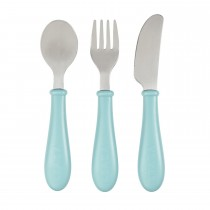 Stainless Steel Training Cutlery -Airy Green