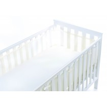 Airflow 2 Sided Mini Cot Mesh Liner  − White Matte Finish