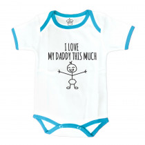 Body Suit : I Heart My Daddy This Much-Blue
