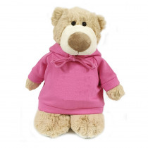 Mascot Bear with Pink Hoodie