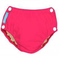 Reusable Easy Snaps Swim Diaper Fluorescent Hot Pink