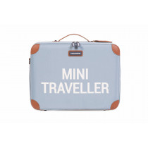 Mini Traveller Kids Suitcase -Grey Off White