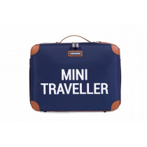 Mini Traveller Kids Suitcase -Navy White