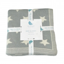 Knitted Baby Blanket - Scattered Stars