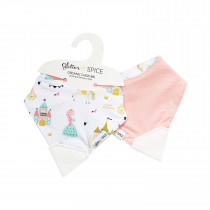 Double Sided Organic Chew Bib - Enchanted Kingdom / Forever Pink