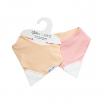 Double Sided Organic Chew Bib - Sorbet / Strawberry Cream