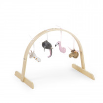 Baby Gym Universal Round + Gymtoys Felt Animal Set Of 4-Natural