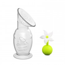 150Ml Silicone Breast Pump & Flower Stopper Giftbox Set - White
