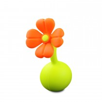 Silicone Breast Pump Flower - Orange Stopper