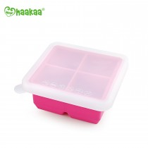 Silicone Baby Food Freezer Tray - 4X Cup - Rose Pink