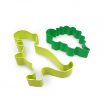 Set of 2 Dinosaur Cookie Cutter Set
