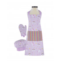 Rainbows and Unicorns Deluxe Child Apron Boxed Set