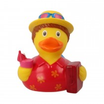 Bath Toy-Holiday Male Duck- red