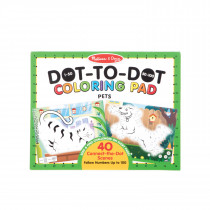 123 Dot-to-Dot Coloring Pads - Pets