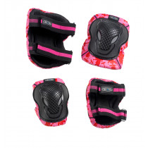 Knee and Elbow Pads Pink Print: L