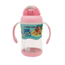 2-stage Tritan Straw Bottle - Pink