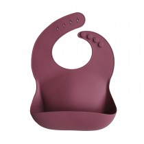 Baby Bib Solid Colors - Dusty Rose