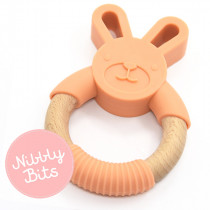 Nibbly Bits - Bunny Teether Apricot