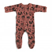 Piha Footed Pajama - Apricot