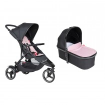 Dot Buggy & Carrycot Package - Blush