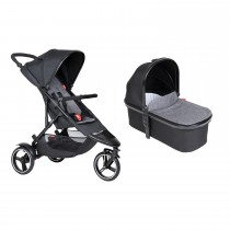 Dot Buggy & Carrycot Package - Charcoal