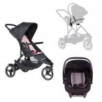 Dot Buggy Travel System - Blush