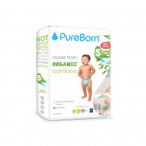 PureBorn Size 5 value pack nappy 11to18Kg 44 pcs - Tropic