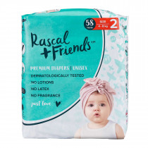 Rascals + Friends Nappies Infant (4-8KG, 58PK)