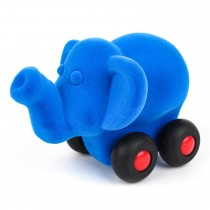 Soft Baby Educational Toy-Aniwheelies Elephhant Small- Blue