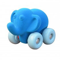 Soft Baby Educational Toy-Aniwheelies Elephant Blue   Large-Blue