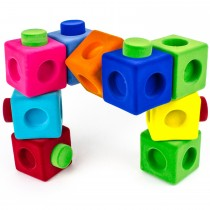 Soft Baby Educational  Toy- Rubbablox Building Set Blox (Set of 9)