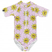 Sunny Flower Swimsuit - Lila