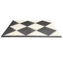 Playspot Geo Floor Tiles - Black & Cream