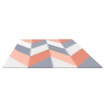 Playspot Geo Floor Tiles - Grey & Peach