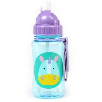 Zoo Straw Bottle - Unicorn
