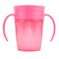 Cheers 360 Cup with Handles, 7oz/250 ml, Pink, 1-Pack