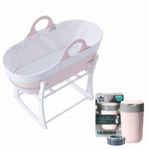 Baby's Nest Bundle 3 (contains Sleepee Baby Moses Basket, Grobag Newborn Swaddle,Nappy Disposal Sangenic Tec Bin)