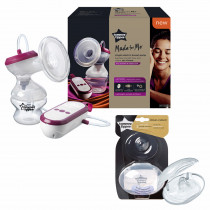 Tommee Tippee Made for Me Breast Feeding Combo -8 ( contains Electric Breast Pump, very quiet USB rechargeable & portable unit with Massage & express modes, Closer to Nature Nipple Shieldsx 2 with Sterilizer Case)