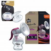 Tommee Tippee Made for Me Breast Feeding Combo -12 ( contains Manual Breast Pump with soft, cushioned silicone cup and narrow neck for hand strain reduction, Closer to Nature Nipple Shieldsx 2 with Sterilizer Case)