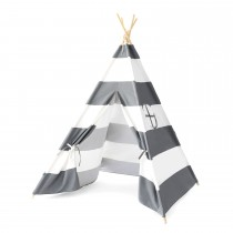 The Kids HQ Teepee- Grey Stripe