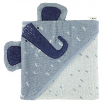 Hooded towel (75cm x 75cm) - Mrs. Elephant